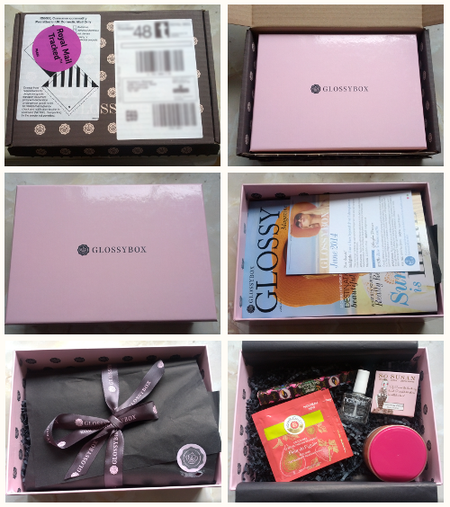 Unboxing Photos of the GlossyBox